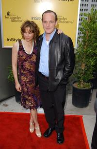 Jennifer Grey and her husband Clark Gregg at the 2002 IFP / West Los Angeles Film Festival Opening Night Gala.