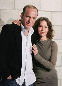 Clark Gregg and Jennifer Grey at the CBS Paramount UPN Showtime King World TCA Party.