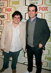 Josh Gad and Ty Burrell at the FOX Fall Eco-Casino party.