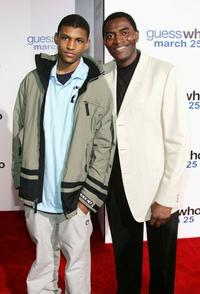 Brian and his father Carl Lumbly at the premiere of