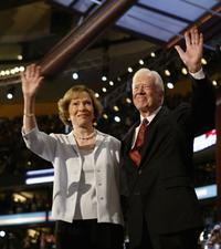 President Jimmy Carter and his wife Rosalynn at the Democratic National Convention.