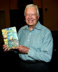 President Jimmy Carter at the booksigning for his new book