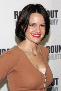 Carla Gugino at the rehearsal of