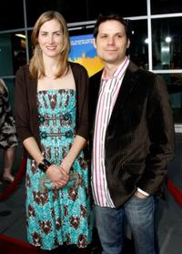 Martha Hagen and her husband Michael Ian Black at the premiere of