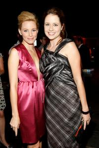 Elizabeth Banks and Jenna Fischer at the party hosted by InStyle for Tommy Hilfiger's Bravo TV special