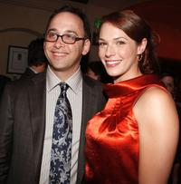David Wain and Amanda Righetti at the after party of the premiere of