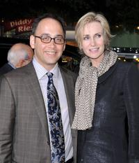 David Wain and Jane Lynch at the premiere of