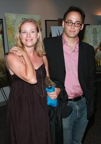 Zandy Hartig and her husband David Wain at the premiere of