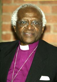 Desmond Tutu at the VIP Opening Luncheon during the Tribeca Film Festival.