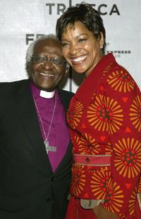 Desmond Tutu and Grace Hightower at the VIP Opening Luncheon during the Tribeca Film Festival.