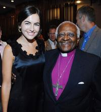 Camilla Belle and Desmond Tutu at the 2008 Freedom Awards.
