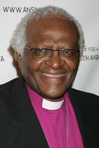Desmond Tutu at the gala fundraiser in celebration of his 75th birthday.