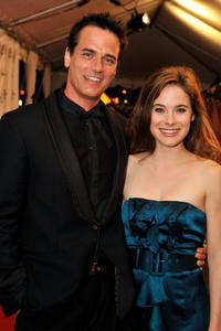 Paul Gross and Caroline Dhavernas at the premiere of