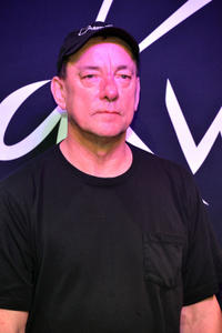 Neil Peart at the Rush Honored On Guitar Center's RockWalk in California.