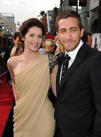 Gemma Arterton and Jake Gyllenhaal at the Los Angeles premiere of