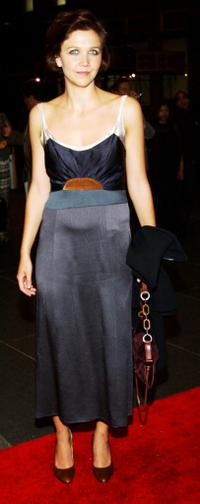 Maggie Gyllenhaal at the American Civil Liberties Union's Freedom Concert after party.