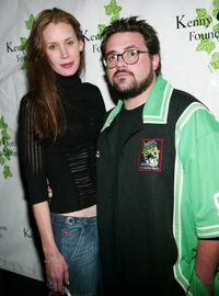 Jennifer Schwalbach Smith and Kevin Smith at the after party screening of