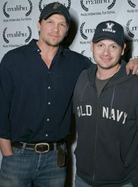 Mark Blucas and Gideon Raff at the opening night of the Malibu Film Festival.