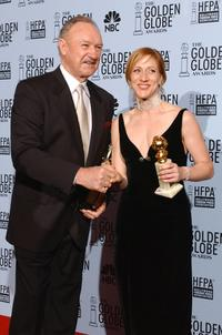 Gene Hackman and Edie Falco at the 60th Annual Golden Globe Awards.