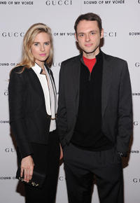 Brit Marling and Christopher Denham at the New York premiere of