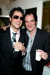 Johnny Knoxville and Quentin Tarantino at the IFC's 20th Annual IFP Independent Spirit Awards after party.