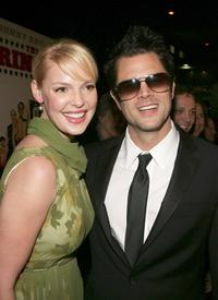 Katherine Heigl and Johnny Knoxville at the Hollywood premiere of