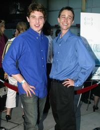 Trevor Morgan and Ryan Kelley at the premiere of