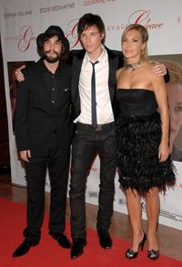 Unax Ugalde, Eddie Redmayne and Mapi Galan at the premiere of