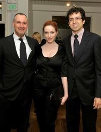 Edward Menicheschi, Christina Hendricks and Geoffrey Arend at the Kimberly Brooks