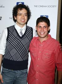 Geoffrey Arend and Michael Weber at the screening of