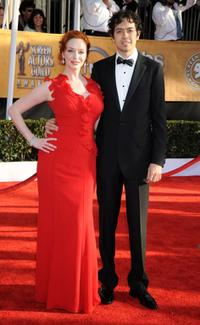 Christina Hendricks and Geoffrey Arend at the 15th Annual Screen Actors Guild Awards.