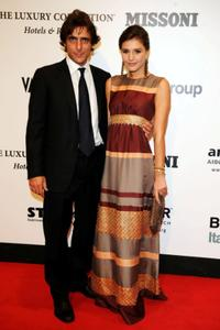 Adriano Giannini and Margherita Missoni at the amfAR's second annual Cinema against AIDS Rome.