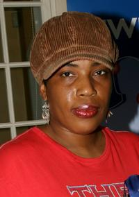 Macy Gray at the Frederic Fekkai Pre-Emmy Style 2006 Garden Party gift bag suite.