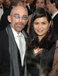 Jackie Earle Haley and Amelia Cruz at the 79th Annual Academy Awards.