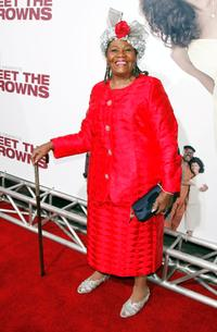 Irma P. Hall at the premiere of