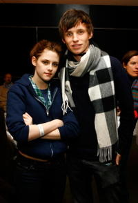 Kristen Stewart and Eddie Redmayne at the 2008 Sundance Film Festival.