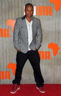 Sam Jones III at the African Bazaar presented by Puma.