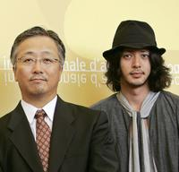 Director Otomo Katsuhiro and Nao Omori at the photocall of