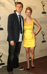 Aaron Staton and January Jones at the Academy of Television Arts and Sciences panel discussion for AMC's