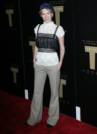 January Jones at the Trump Vodka launch party.