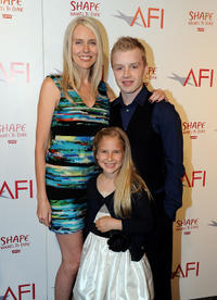Director Lisa Robertson, Scarlett Selznick and Noel Fisher at the California premiere of