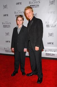 Aidan Mitchell and Noel Fisher at the premiere of