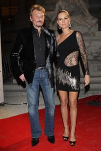 Johnny Hallyday and Laeticia Hallyday at the Patrick Demarchelier's exhibition Party.