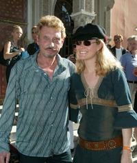 Johnny Hallyday and Laeticia Hallyday at the 2002 Marrakech International Film Festival.