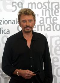 Johnny Hallyday at the 59th Venice Film festival.