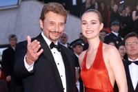 Johnny Hallyday and wife Laetitia at the 51st Cannes film festival.