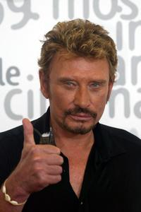 Johnny Hallyday at the photocall of