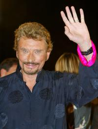 Johnny Hallyday at the screening of