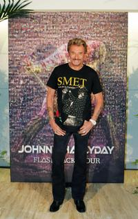 Johnny Hallyday at the press conference of