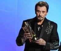 Johnny Hallyday at the 24th Victoires de la Musique annual ceremony, France's top music awards.